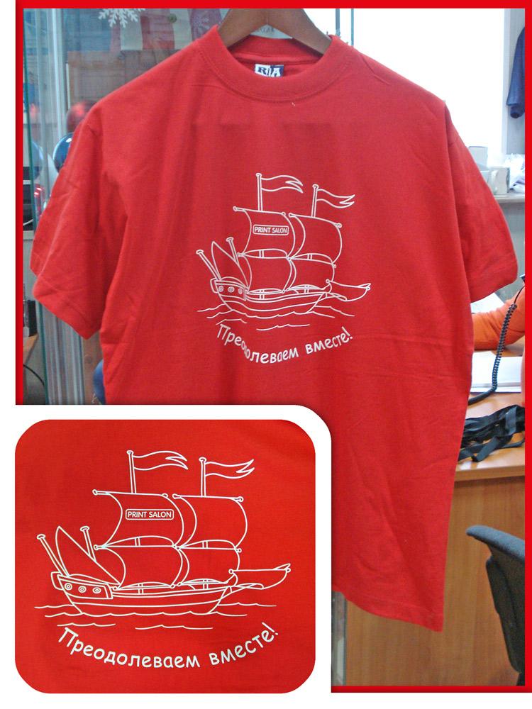 шелкография вышивка на футболках