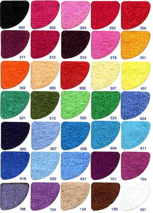 Возможные цвета полотенца с логотипом