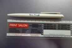 Ручка с тампопечатью в 1 цвет