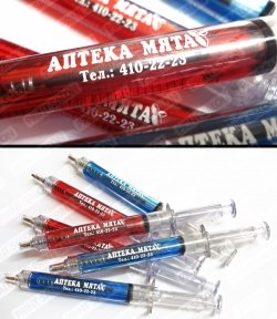Ручки-шприцы для аптеки Мята