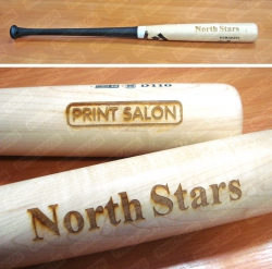 Бейсбольные биты с выгравированными логотипами